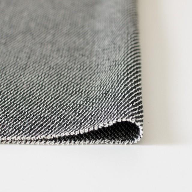 コットン&ポリエステル×斜め縞(ブラック&ブラック)×かわり織_全2色 イメージ3