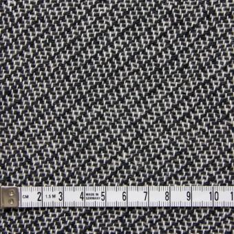 コットン&ポリエステル×斜め縞(ブラック&ホワイト)×かわり織_全2色 サムネイル4