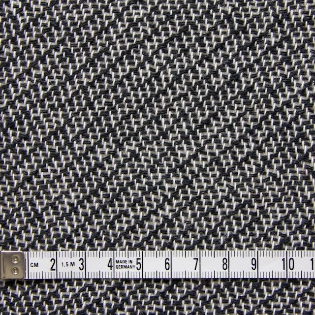 コットン&ポリエステル×斜め縞(ブラック&ホワイト)×かわり織_全2色 イメージ4