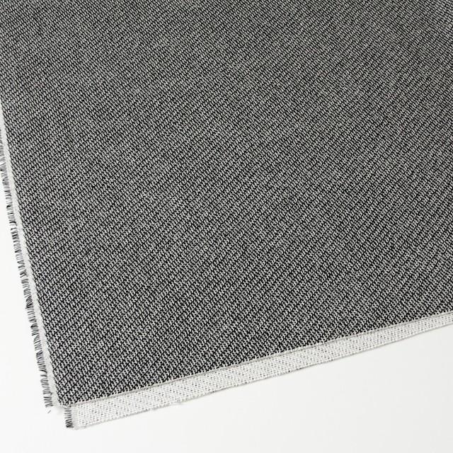 コットン&ポリエステル×斜め縞(ブラック&ホワイト)×かわり織_全2色 イメージ2