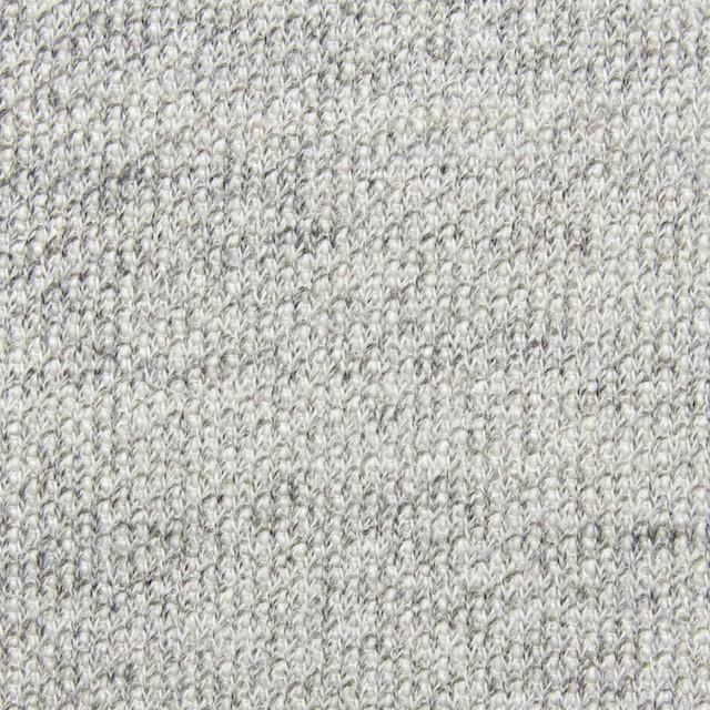 コットン×無地(ライトグレー)×裏毛丸編みニット イメージ1