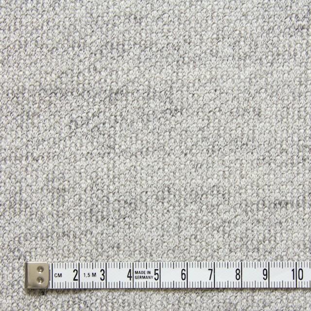 コットン×無地(ライトグレー)×裏毛丸編みニット イメージ4