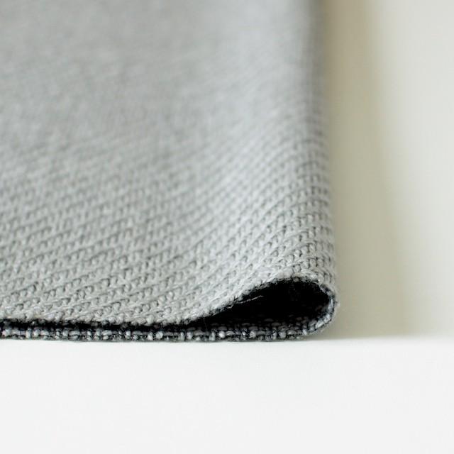 ウール×無地(シルバーグレー)×太カルゼ イメージ3