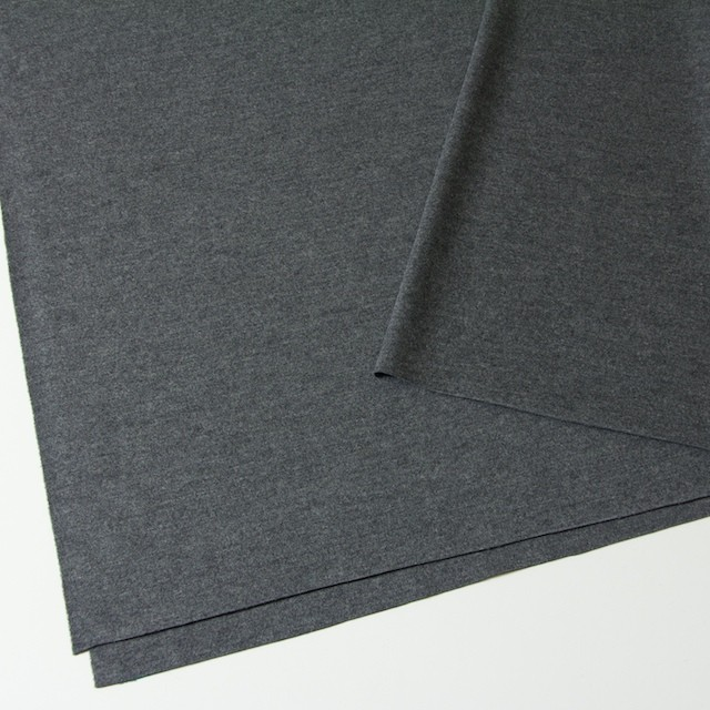 ウール×無地(グレー)×圧縮Wニット イメージ2