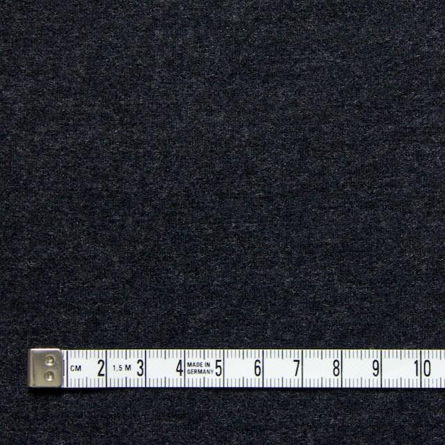 ウール×無地(チャコールグレー)×W圧縮ニット イメージ4