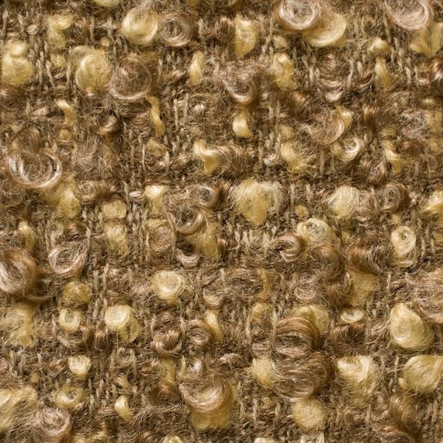 ウール&ポリエステル混×ミックス(イエロー&ブラウン)×ループツイード_イタリア製_全2色 イメージ1