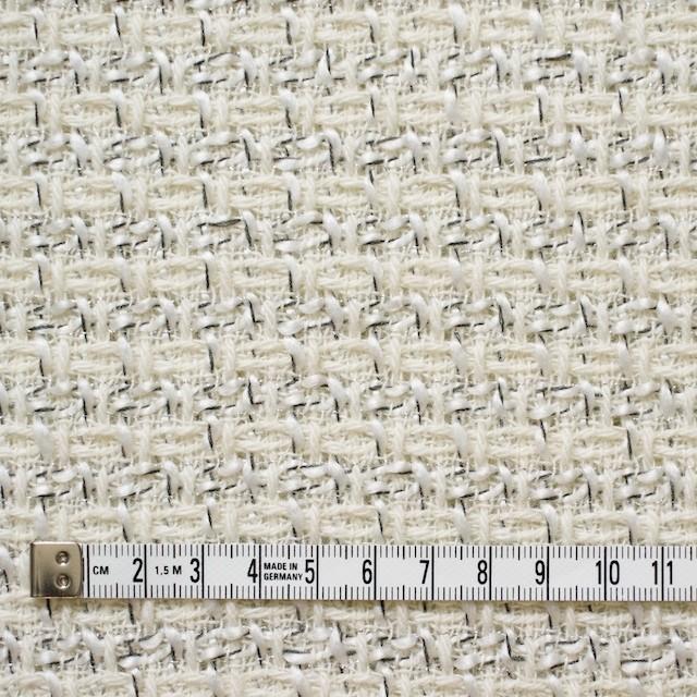 ウール&アクリル混×ミックス(オフホワイト)×杢ツイード_全2色 イメージ4