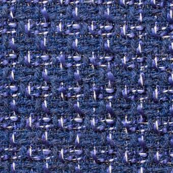 ウール&アクリル混×ミックス(ブルー)×杢ツイード_全2色 サムネイル1