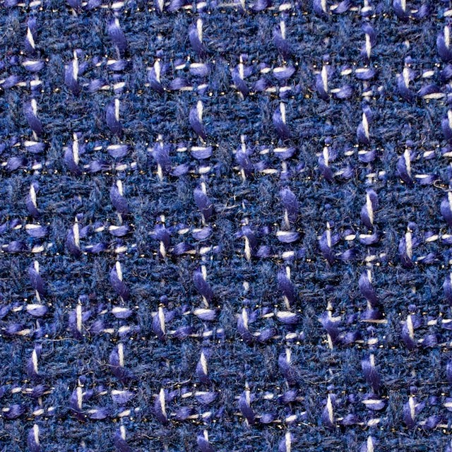 ウール&アクリル混×ミックス(ブルー)×杢ツイード_全2色 イメージ1