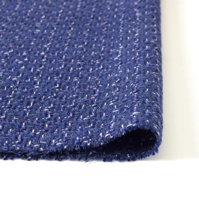 ウール&アクリル混×ミックス(ブルー)×杢ツイード_全2色 イメージ3