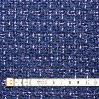 ウール&アクリル混×ミックス(ブルー)×杢ツイード_全2色 サムネイル4