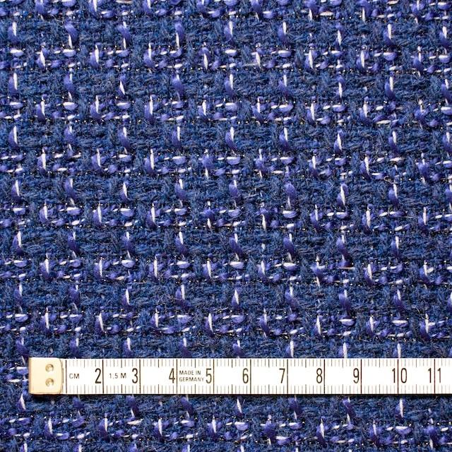 ウール&アクリル混×ミックス(ブルー)×杢ツイード_全2色 イメージ4