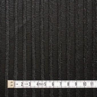 ポリエステル×無地(ブラック)×リブニット_フランス製 サムネイル4