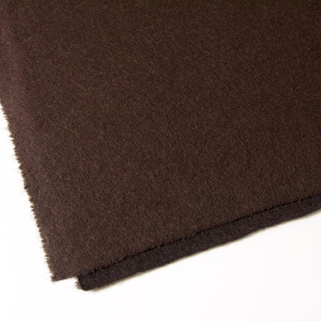ナイロン&ウール×無地(ブラウン)×シャギーニット_全2色_イタリア製 イメージ2