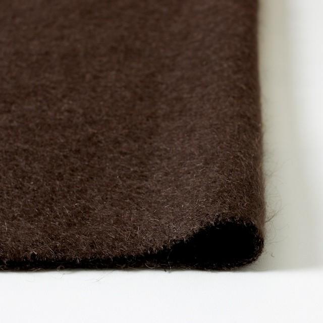 ナイロン&ウール×無地(ブラウン)×シャギーニット_全2色_イタリア製 イメージ3