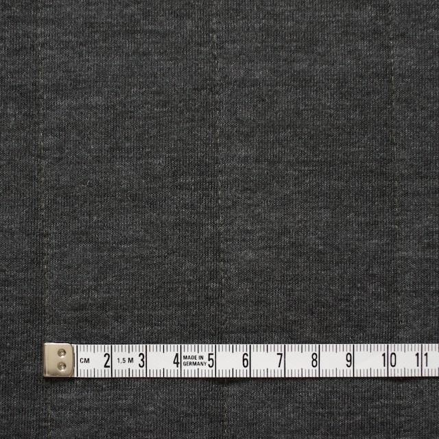 ポリエステル&レーヨン×無地(チャコールグレー)×ニットキルティング_全3色 イメージ4