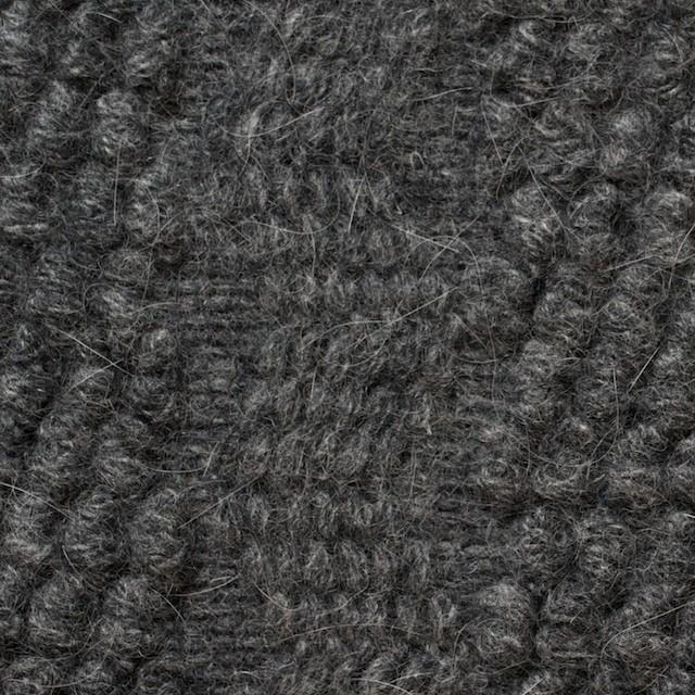 ウール×無地(チャコールグレー)×かわり織_全2色 イメージ1