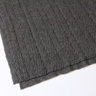 ウール×無地(チャコールグレー)×かわり織_全2色 サムネイル2