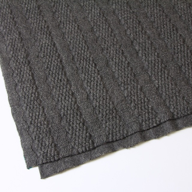ウール×無地(チャコールグレー)×かわり織_全2色 イメージ2