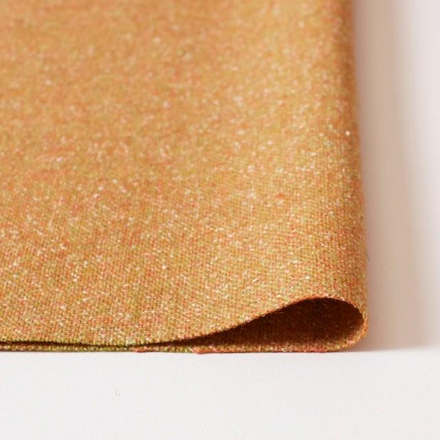 ウール&シルク混×オレンジミックス×ツイード_全2色 イメージ3