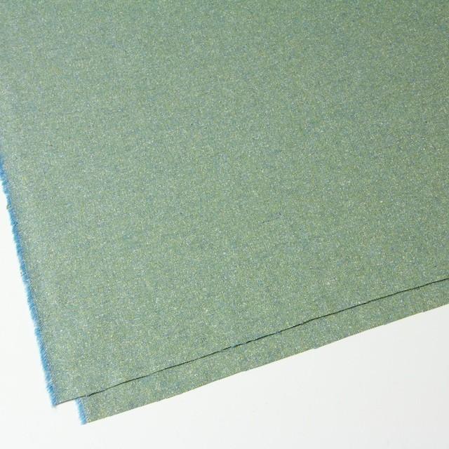ウール&シルク混×グリーンミックス×ツイード_全2色 イメージ2
