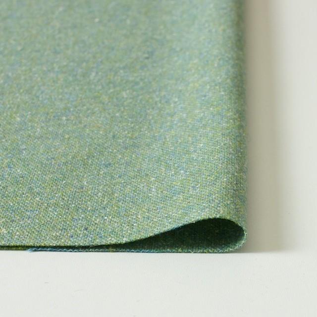 ウール&シルク混×グリーンミックス×ツイード_全2色 イメージ3
