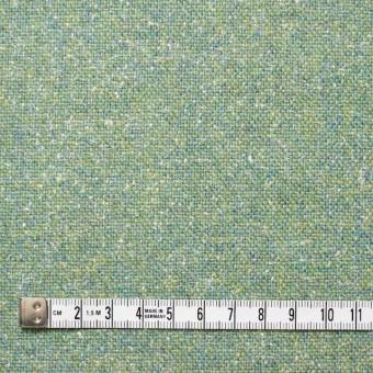 ウール&シルク混×グリーンミックス×ツイード_全2色 サムネイル4