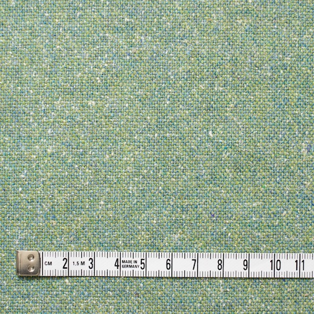 ウール&シルク混×グリーンミックス×ツイード_全2色 イメージ4