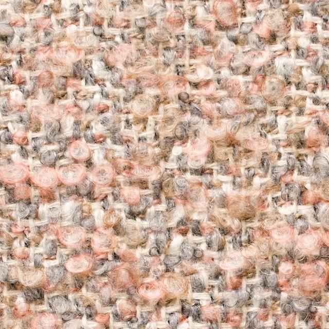 ウールモヘア×ミックス(ピンク&グレー)×ループツイード_イタリア製 イメージ1