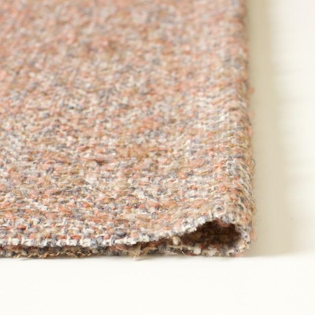 ウールモヘア×ミックス(ピンク&グレー)×ループツイード_イタリア製 イメージ3