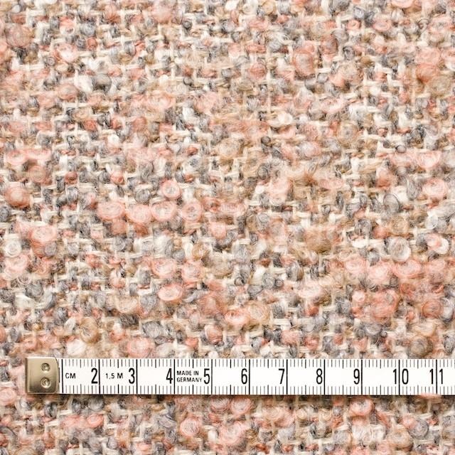 ウールモヘア×ミックス(ピンク&グレー)×ループツイード_イタリア製 イメージ4