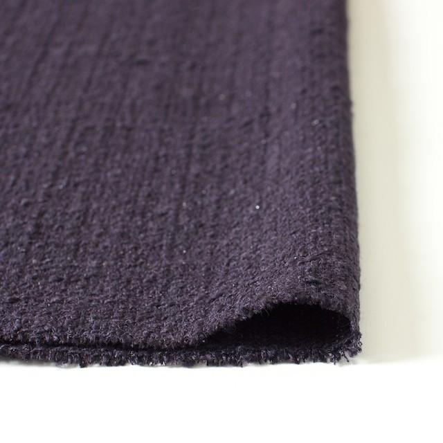 ウール&ポリアミド混×無地(ダークパープル)×ファンシーツイード_全2色_イタリア製 イメージ3