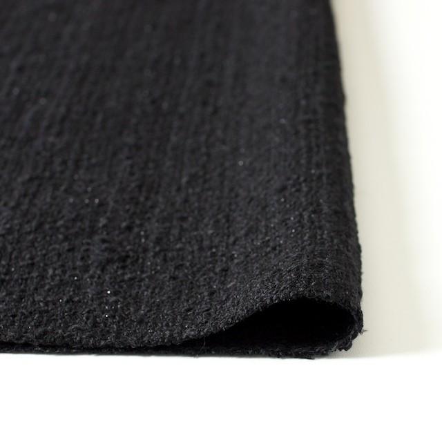 ウール&ポリアミド混×無地(ブラック)×ファンシーツイード_全2色_イタリア製 イメージ3