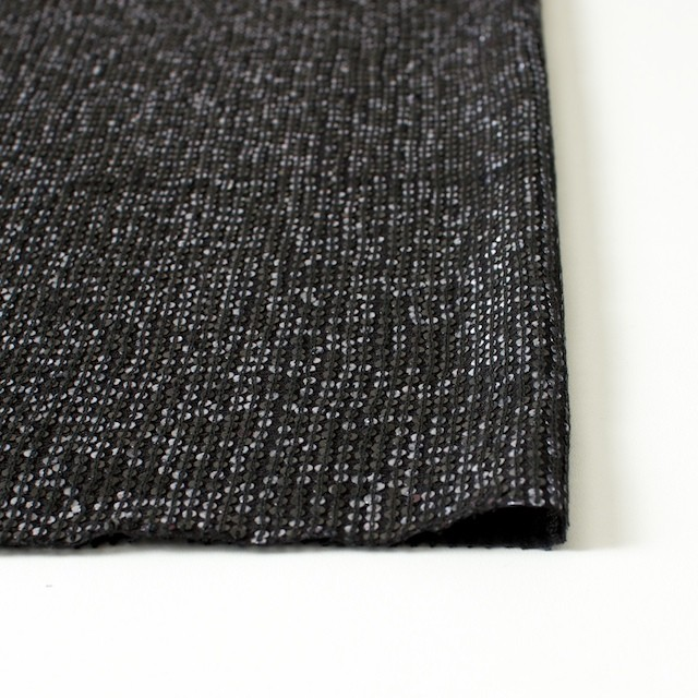 シルク×無地(ブラック)×スパン付きジョーゼット イメージ3