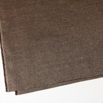 ウール&ポリエステル×ダークブラウンミックス×かわり織 サムネイル2