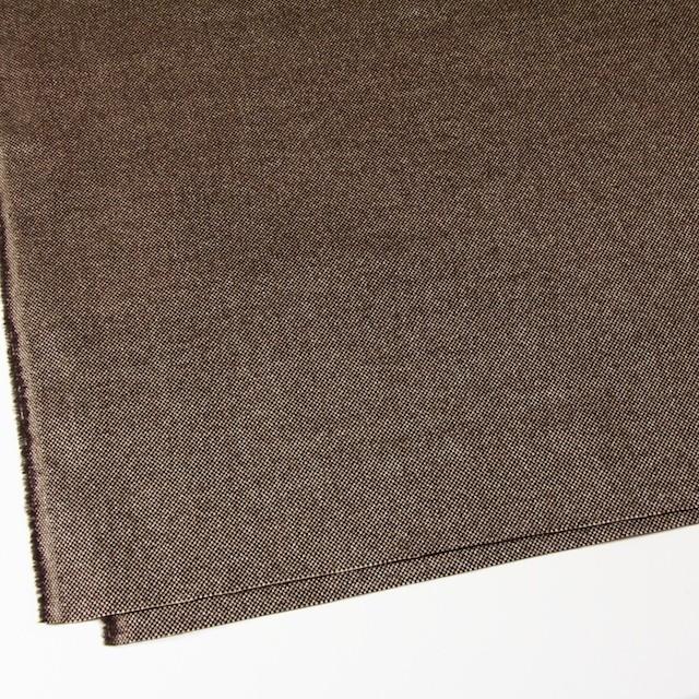 ウール&ポリエステル×ダークブラウンミックス×かわり織 イメージ2