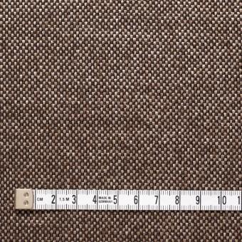 ウール&ポリエステル×ダークブラウンミックス×かわり織 サムネイル4