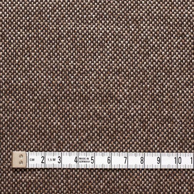 ウール&ポリエステル×ダークブラウンミックス×かわり織 イメージ4
