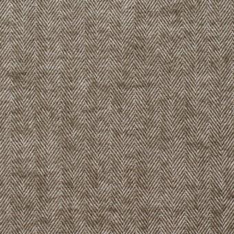 コットン&ポリウレタン×無地(カーキブラウン)×ヘリンボーン サムネイル1