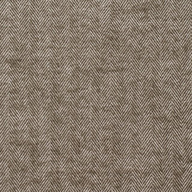 コットン&ポリウレタン×無地(カーキブラウン)×ヘリンボーン イメージ1