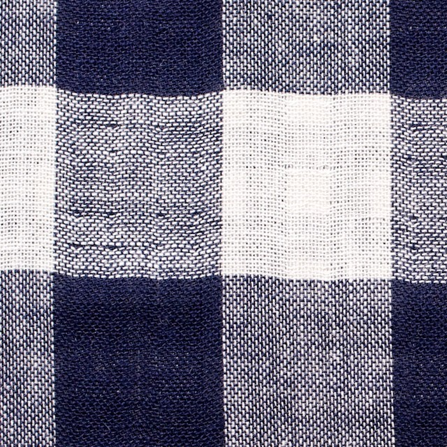 コットン×チェック&チェック(インディゴ)×Wガーゼ イメージ1