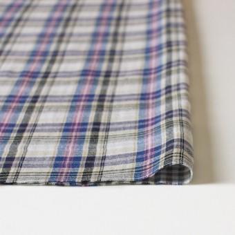 コットン×チェック(ブルー×ピンク)×Wガーゼ_全3色 サムネイル3