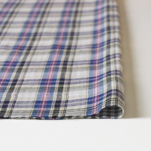 コットン×チェック(ブルー×ピンク)×Wガーゼ_全3色 イメージ3