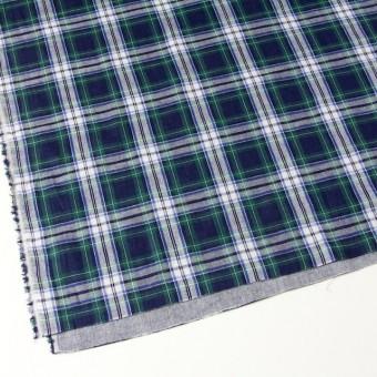 コットン×チェック(スカイブルー×ブリティッシュグリーン)×Wガーゼ_全3色 サムネイル2