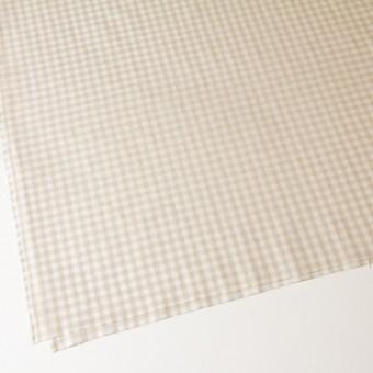 コットン&リネン×ギンガムチェック(生成)×薄シーチング_全2色 サムネイル2