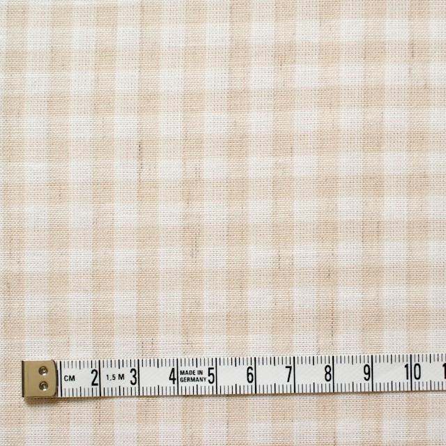 コットン&リネン×ギンガムチェック(生成)×薄シーチング_全2色 イメージ4