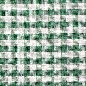 コットン&リネン×ギンガムチェック(グリーン)×薄シーチング_全2色 サムネイル1