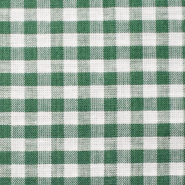 コットン&リネン×ギンガムチェック(グリーン)×薄シーチング_全2色 イメージ1