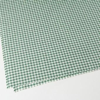 コットン&リネン×ギンガムチェック(グリーン)×薄シーチング_全2色 サムネイル2
