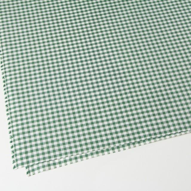 コットン&リネン×ギンガムチェック(グリーン)×薄シーチング_全2色 イメージ2